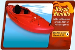 Create Listing: Kayak (single) - 2hr ($35), 4hrs ($45), daily ($65), wk(ask)